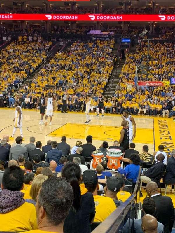 Oakland Arena, secção: 127, fila: 7, lugar: 9