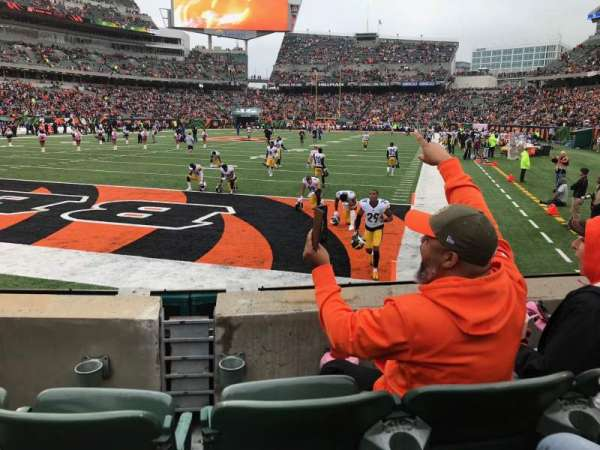 Paul Brown Stadium, secção: 150, fila: 3, lugar: 7-8