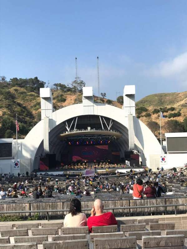 hollywood bowl, secção: H, fila: 8, lugar: 106