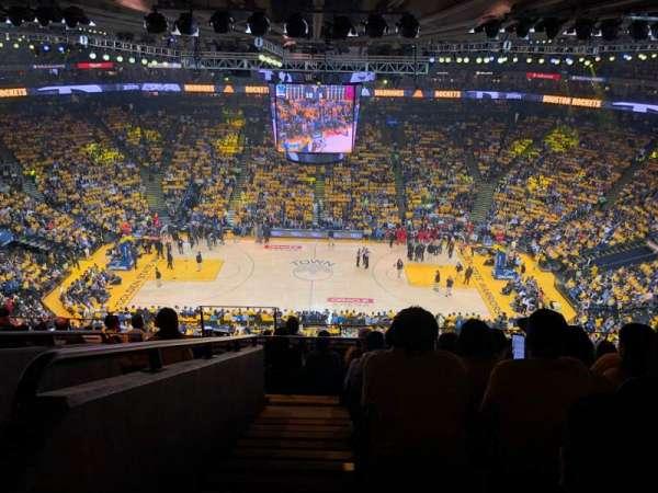 Oakland Arena, secção: 216, fila: 10, lugar: 17
