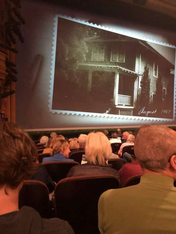American Airlines Theatre, secção: Orchestra L, fila: J, lugar: 5