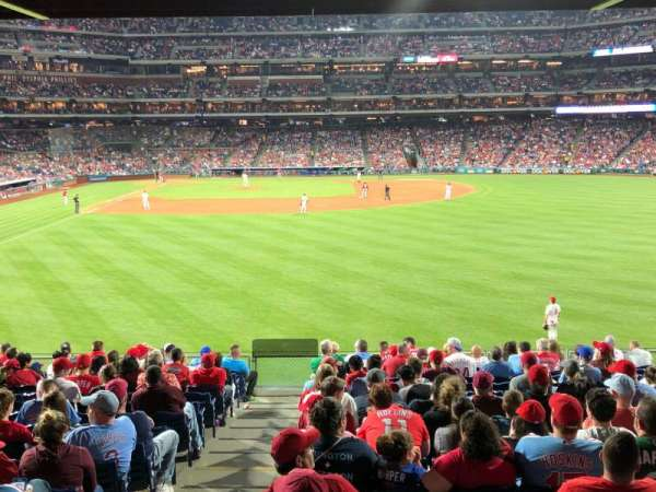 Citizens Bank Park, secção: 104, fila: 17, lugar: 9