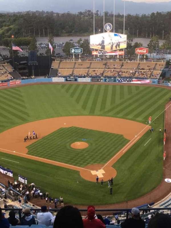 Dodger Stadium, secção: 5TD, fila: L, lugar: 8