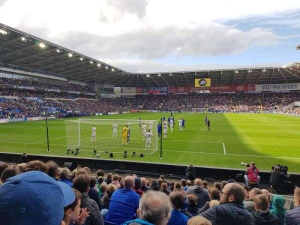Cardiff City Stadium, secção: 124, fila: L, lugar: 38