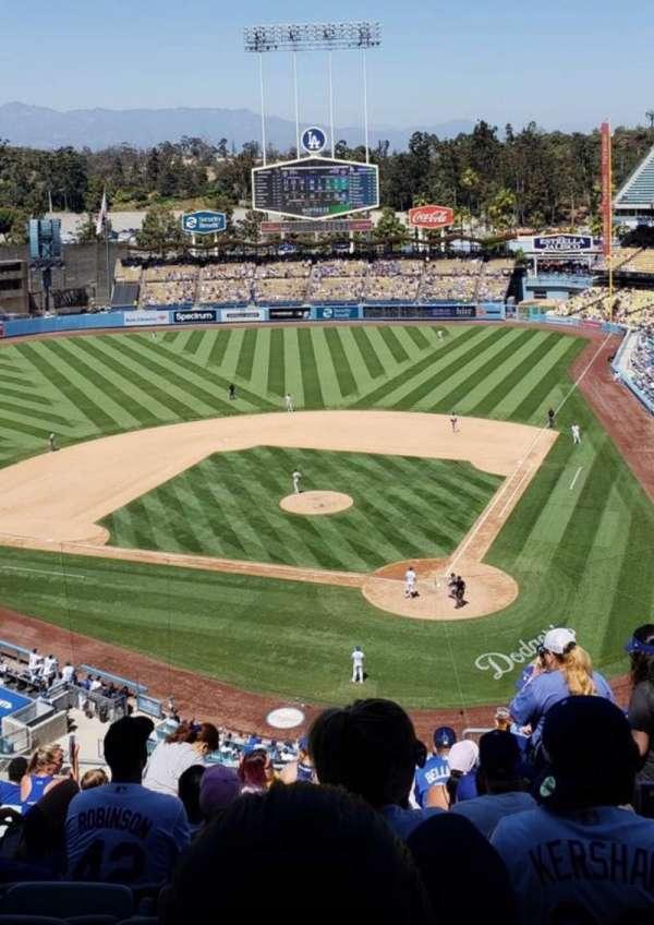 Dodger Stadium, secção: 7RS, fila: W, lugar: 6