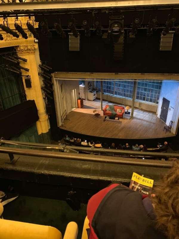 Hudson Theatre, secção: Balcony C, fila: B, lugar: 108