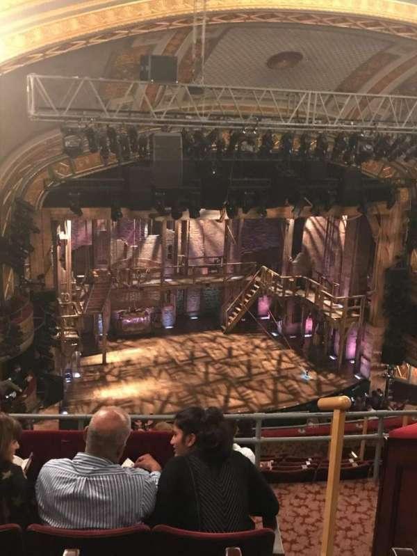 Richard Rodgers theatre , secção: Rear Mezzanine L, fila: K, lugar: 17