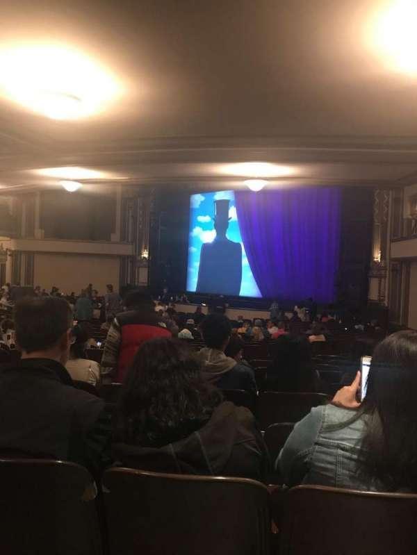 Golden Gate Theatre, secção: Orchestra R, fila: Z, lugar: 40