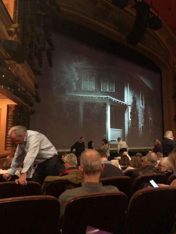 American Airlines Theatre, secção: Orchestra L, fila: J, lugar: 17