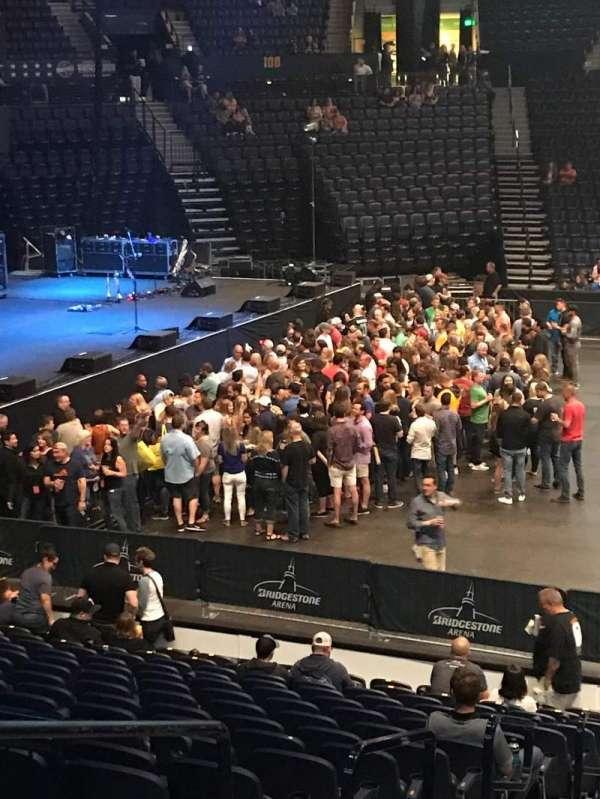 Bridgestone Arena, secção: 115, fila: FWC, lugar: 14