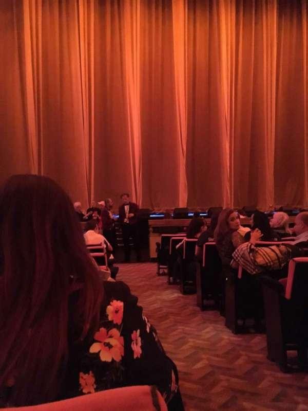 Radio City Music Hall, secção: Orchestra 5, fila: KK, lugar: 501