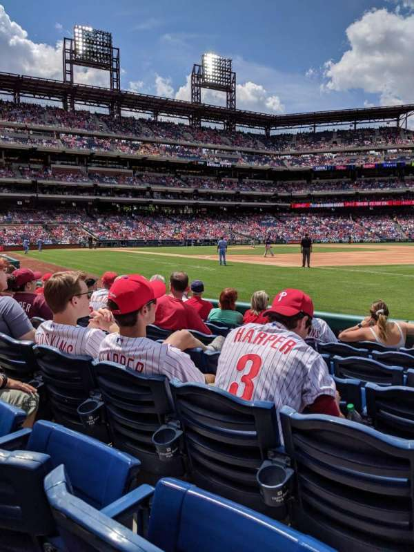 Citizens Bank park, secção: 112, fila: 7, lugar: 10