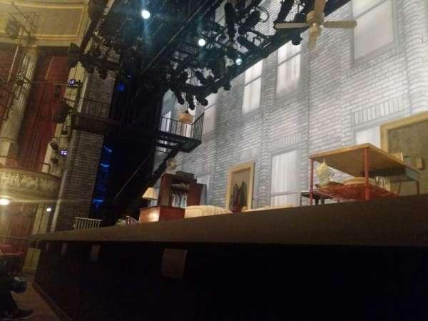 Broadhurst Theatre, secção: Orchestra R, fila: A, lugar: 4