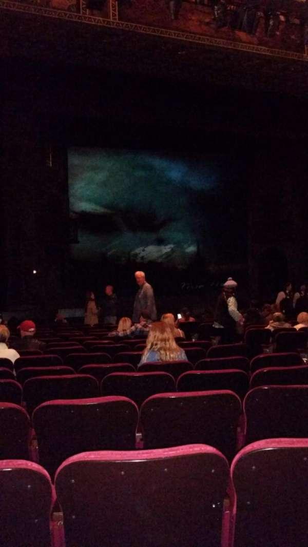 Hollywood Pantages Theatre, secção: Orchestra LC, fila: P, lugar: 205