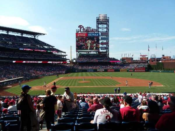 Citizens Bank Park, secção: 117, fila: 33, lugar: 17