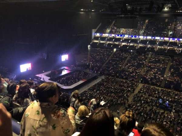 The O2 Arena, secção: 405, fila: K, lugar: 553