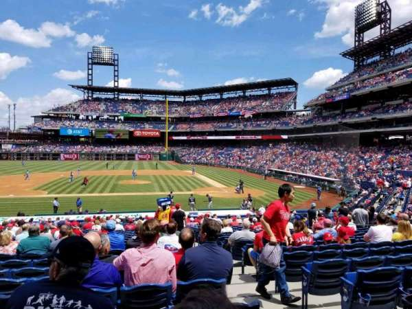 Citizens Bank Park, secção: 130, fila: 28, lugar: 2