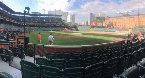 Oriole Park at Camden Yards, secção: 34, fila: 6, lugar: 11