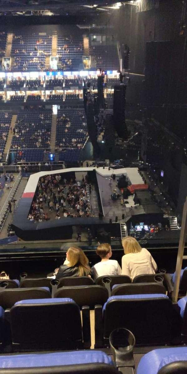 The O2 arena, secção: 422, fila: E, lugar: 467
