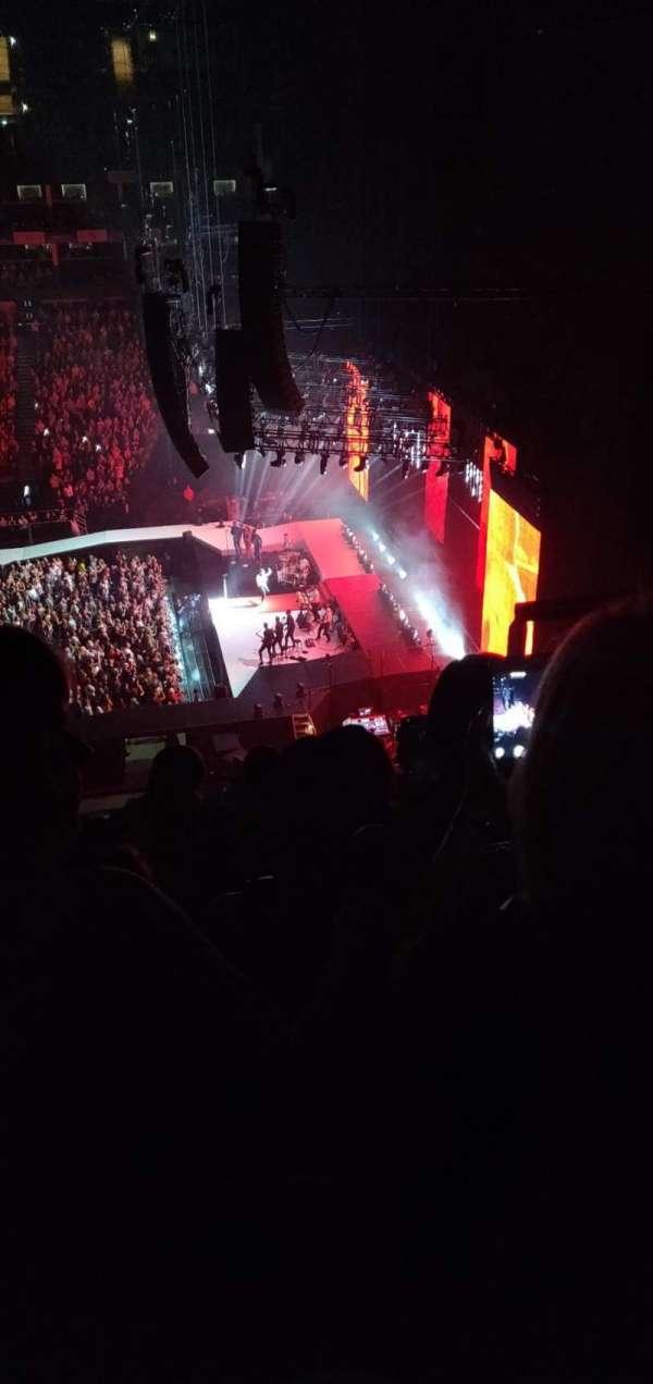 The O2 arena, secção: 422, fila: E, lugar: 466