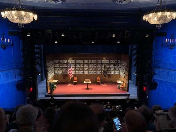 Hayes Theater, secção: Mezzanine C, fila: E, lugar: 105