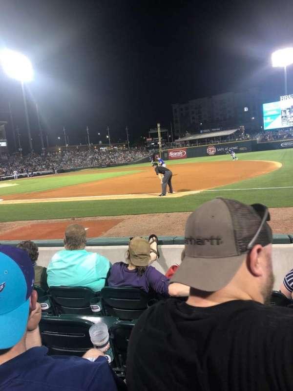 BB&T Ballpark (Charlotte), secção: 105, fila: D, lugar: 5