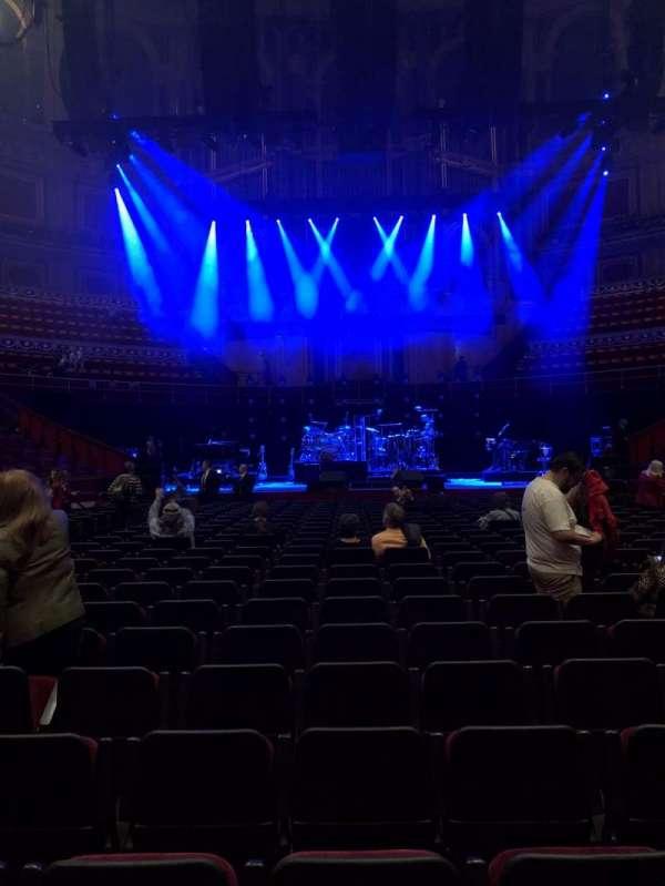 Royal Albert Hall, secção: C, fila: 24, lugar: 17