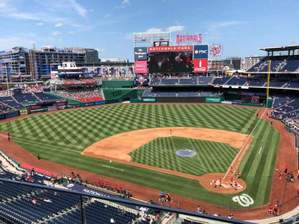 Nationals Park, secção: 311, fila: B, lugar: 13