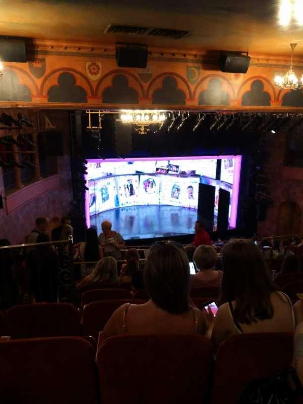 August Wilson Theatre, secção: Mezzanine, fila: O, lugar: 13