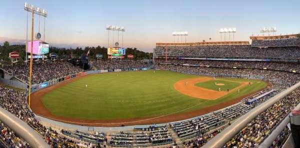 Dodger Stadium, secção: 35RS, fila: A, lugar: 16