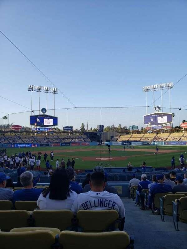 Dodger Stadium, secção: 1FD, fila: N, lugar: 1