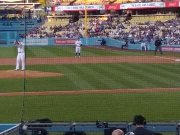 Dodger Stadium, secção: 15FD, fila: G, lugar: 6