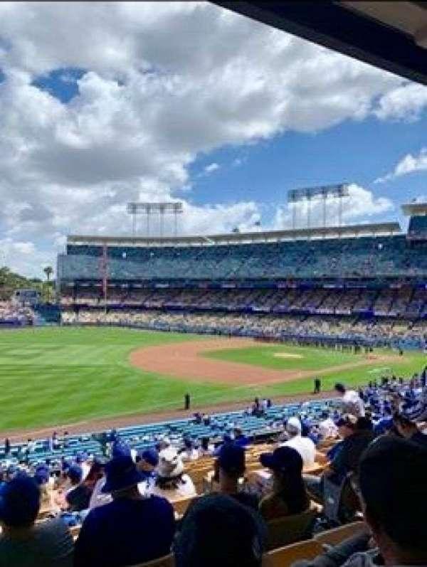 Dodger Stadium, secção: 153LG, fila: N, lugar: 5