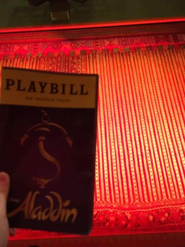 New Amsterdam Theatre, secção: Orchestra, fila: D, lugar: 106