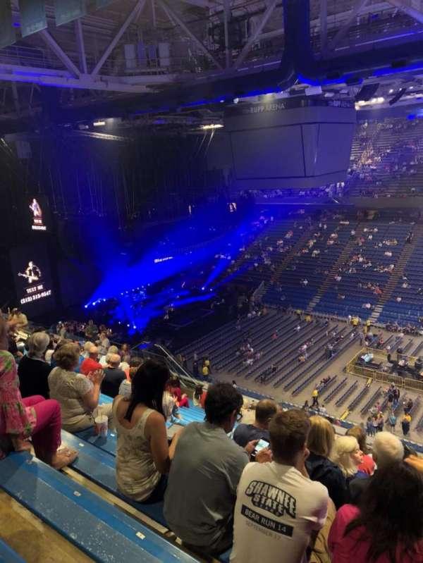 Rupp Arena, secção: 230, fila: U, lugar: 3