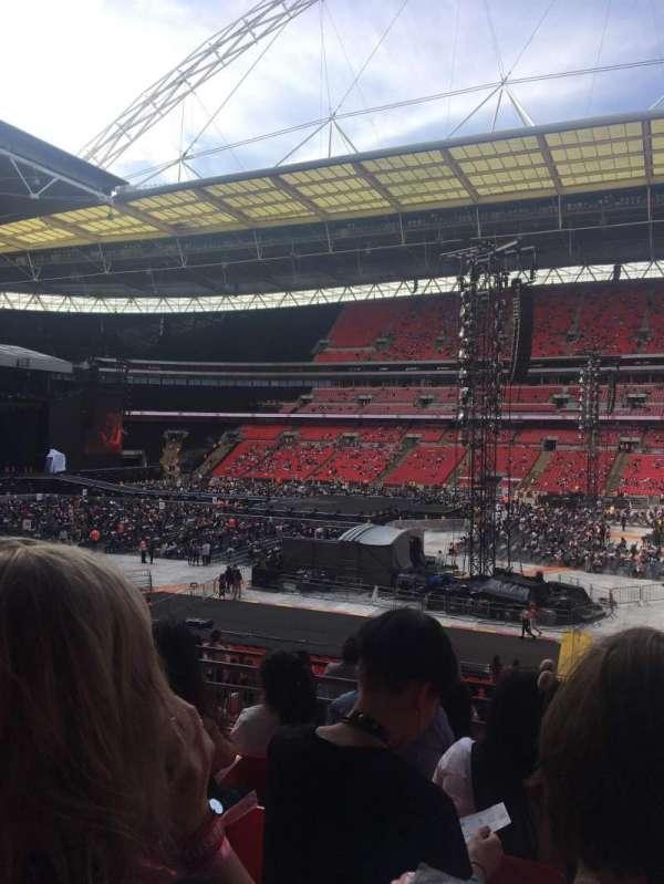 Wembley Stadium , secção: 121, fila: 36, lugar: 265