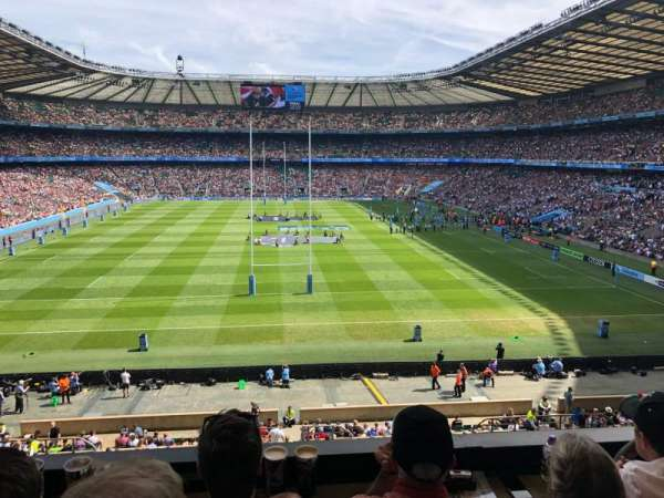Twickenham Stadium, secção: M20, fila: 53, lugar: 133