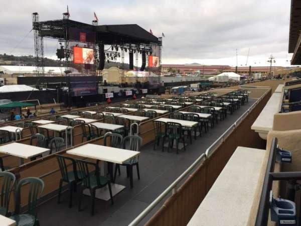The Corona Grandstand Stage at the Del Mar Fairgrounds, secção: BX 57A, fila: 1, lugar: 6