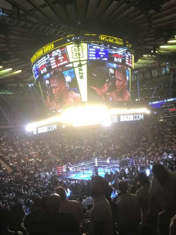 Madison Square Garden, secção: 115, fila: 13, lugar: 12