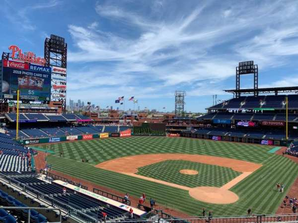 Citizens Bank Park, secção: 224, fila: 7, lugar: 10