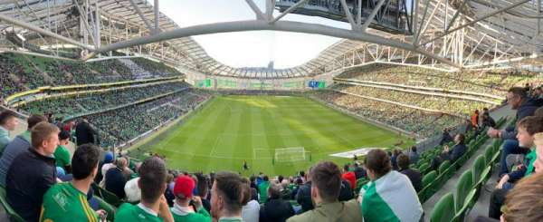 Aviva Stadium, secção: 516, fila: K, lugar: 6