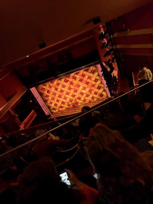 Adelphi Theatre, secção: Upper Circle, fila: K, lugar: 7