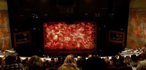 Minskoff Theatre, secção: RMEZ, fila: L, lugar: 133