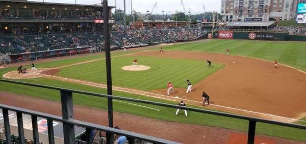 BB&T Ballpark (Charlotte), secção: 203, fila: A, lugar: 8