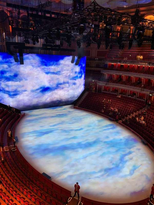 Royal Albert Hall, secção: Rausing Circle S, fila: 1, lugar: 77