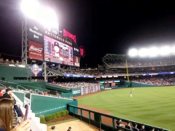 Nationals Park, secção: 102, fila: L, lugar: 17