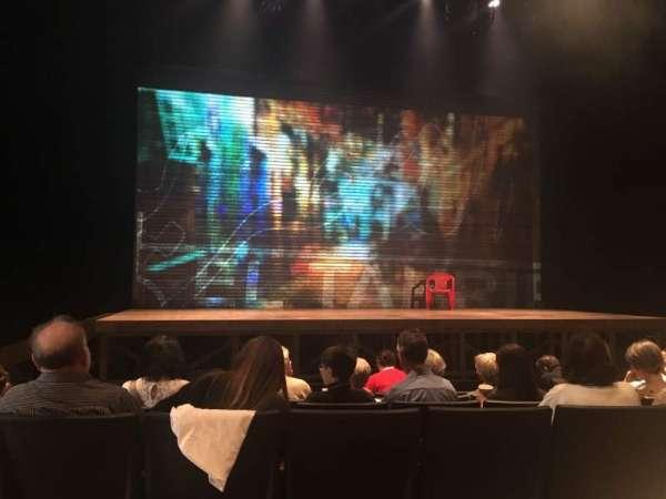 Loeb Drama Center, secção: Orchestra, fila: B, lugar: 21