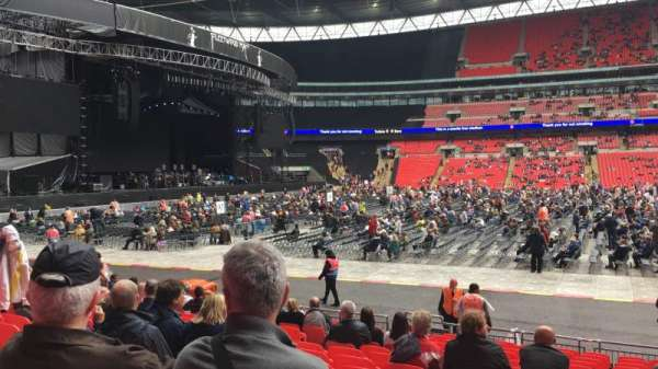 Wembley Stadium, secção: B, fila: 16, lugar: Ee