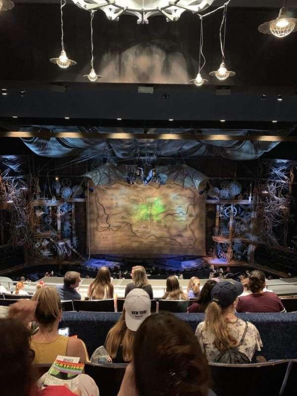 Gershwin Theatre, secção: Rear Mezzanine, fila: H, lugar: 109 and 110