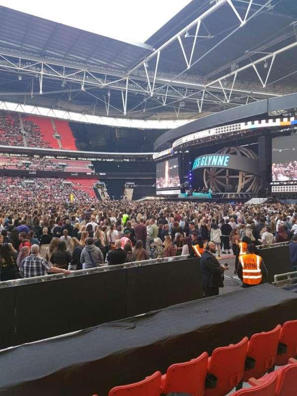 Wembley stadium , secção: 144, fila: 6, lugar: 17